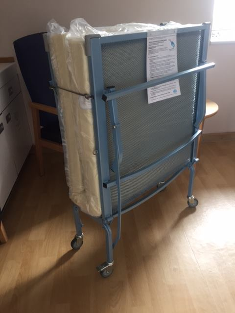 The bed bought for Warwick Hospitals SCBU (Special Care Baby Unit) by Family Parties